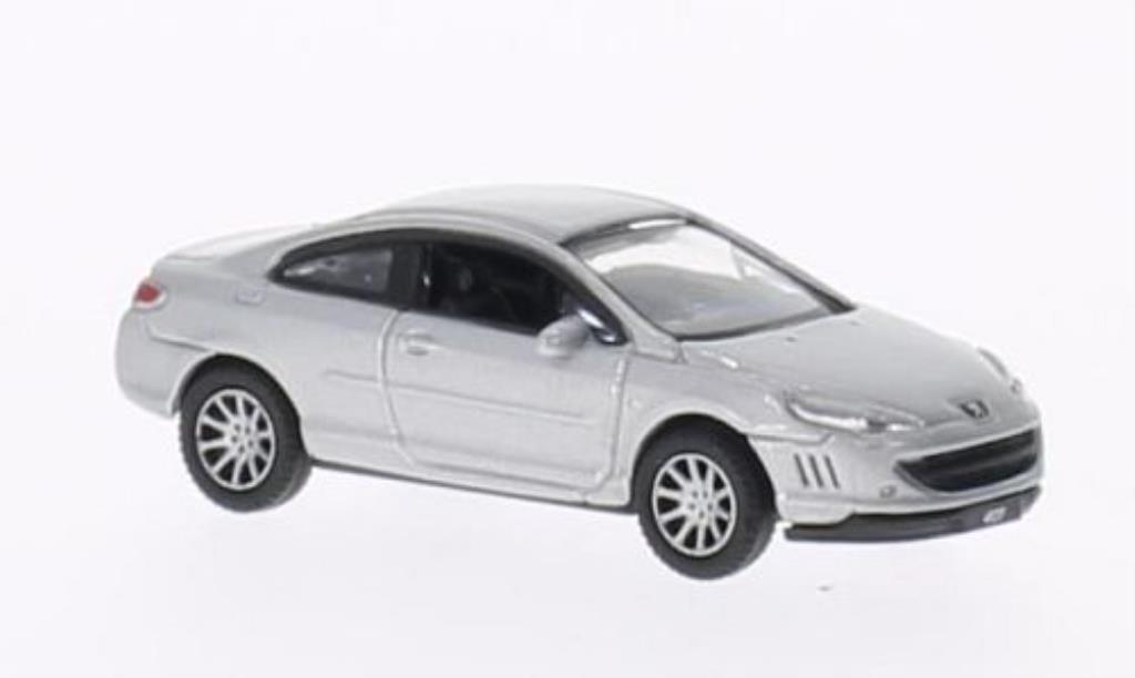 Peugeot 407 coupe 1/87 Welly grise miniature