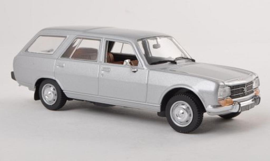Peugeot 504 Break 1/43 Norev grise 1979 miniature