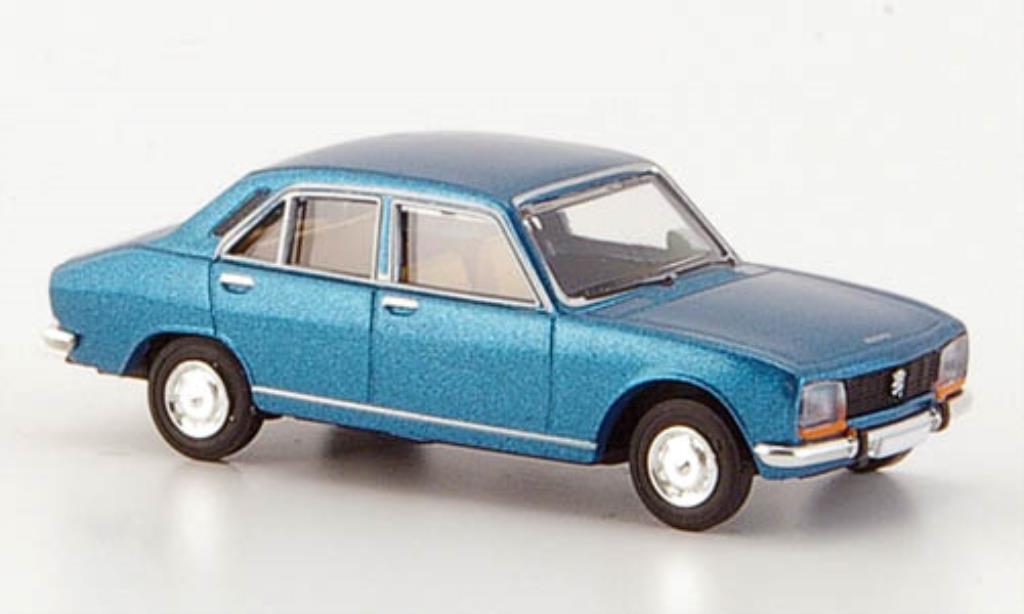Peugeot 504 Berline 1/87 Brekina bleu Limousine miniature