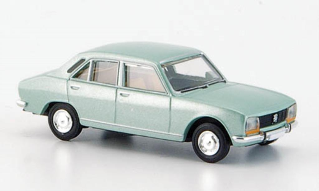 Peugeot 504 Berline 1/87 Brekina verte Limousine miniature