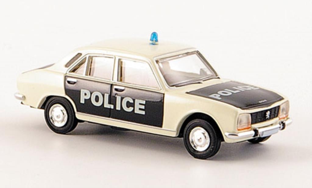 Peugeot 504 Berline 1/87 Brekina Police Polizei-Limousine miniature