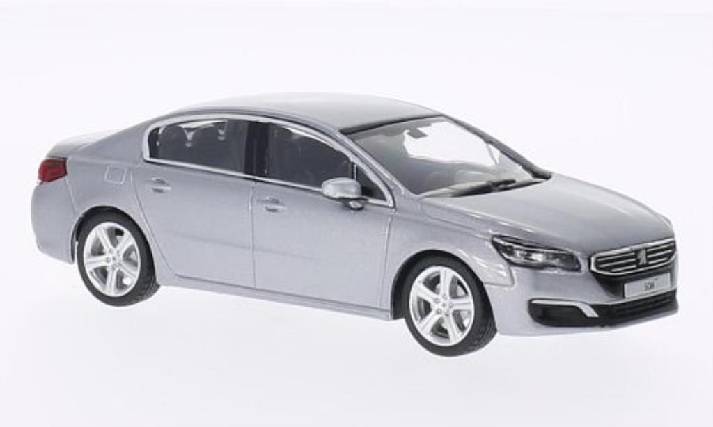 Peugeot 508 Berline 1/43 Norev grau 2014 modellautos