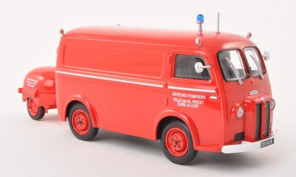 Peugeot D3 1/43 Eligor Kastenwagen Sapeurs Pompiers Ville de Saint Prest mit Motorpumpe miniature