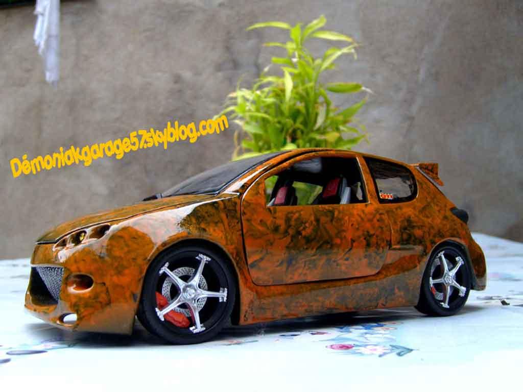 Peugeot 206 WRC 1/18 Norev street racer miniature