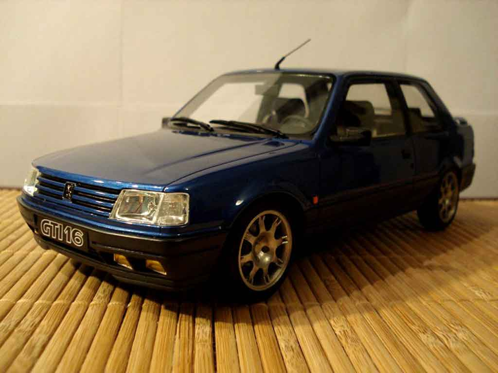 Peugeot 309 GTI 16 1/18 Ottomobile S bleue jantes pts miniature