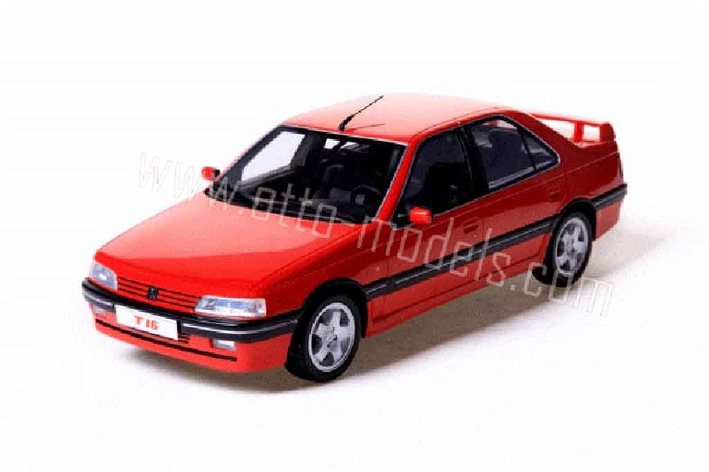 Peugeot 405 Turbo 16 1/18 Ottomobile 1994 rouge miniature