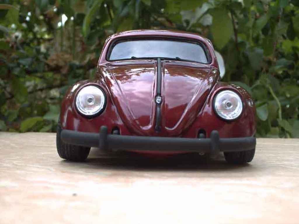 Volkswagen Kafer 1/18 Burago cox jantes fuchs miniature