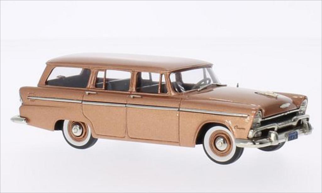 Plymouth Belvedere 1/43 Brooklin Suburban kupfer 1955 miniature