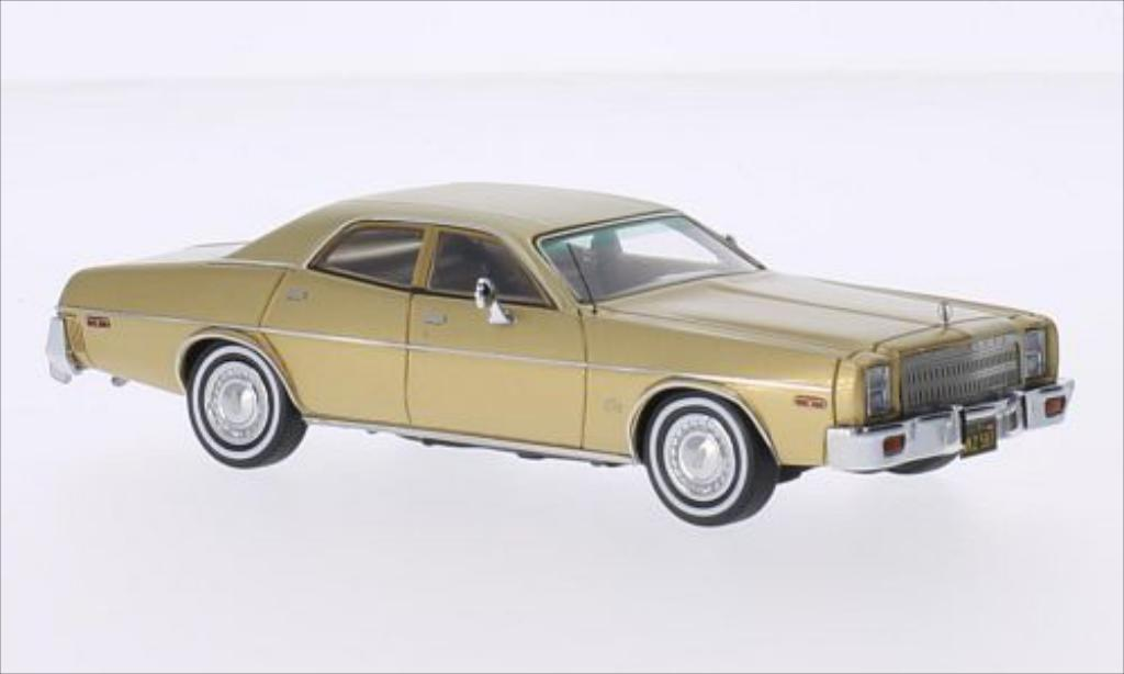 Plymouth Fury 1/43 Neo 4-Door Sedan gold 1977 miniature