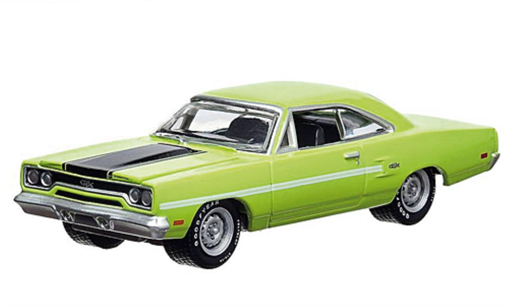 Plymouth GTX 1/64 Greenlight grun/matt-noire 1970 miniature