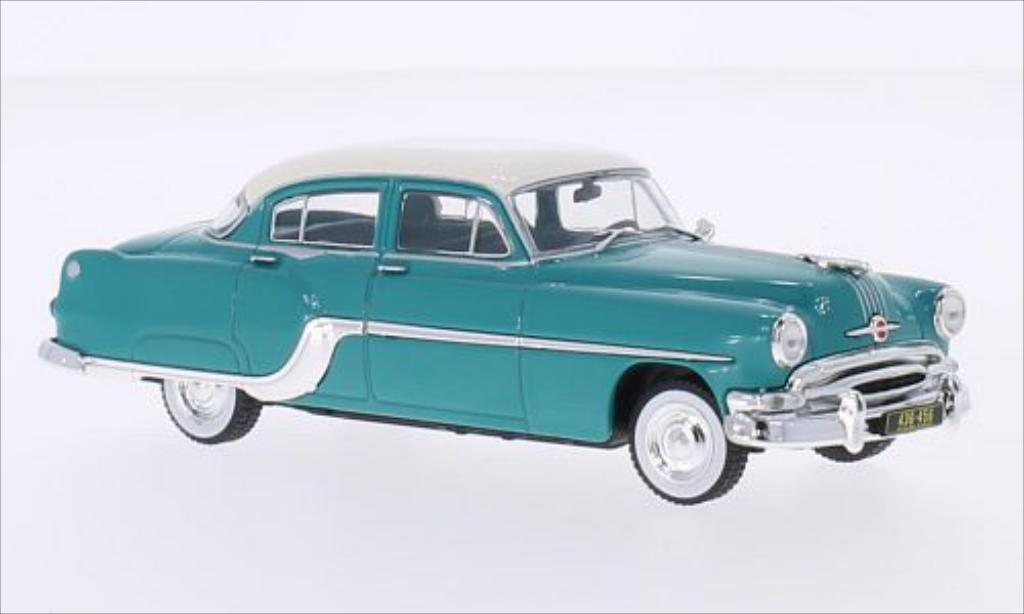 Pontiac Chieftain 1/43 WhiteBox turquoise/blanche 1954 miniature