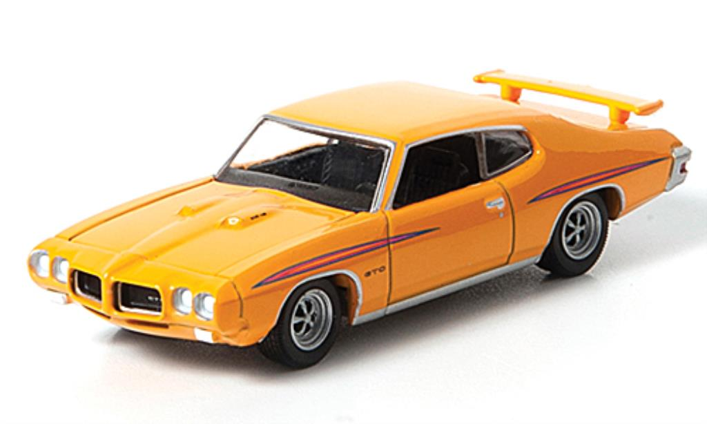 Pontiac GTO 1/64 Greenlight jaune G.T.O.s miniature