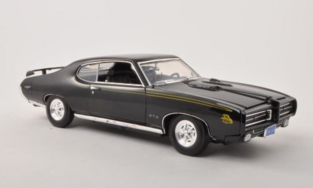Pontiac GTO 1/18 Motormax noire 1969 miniature