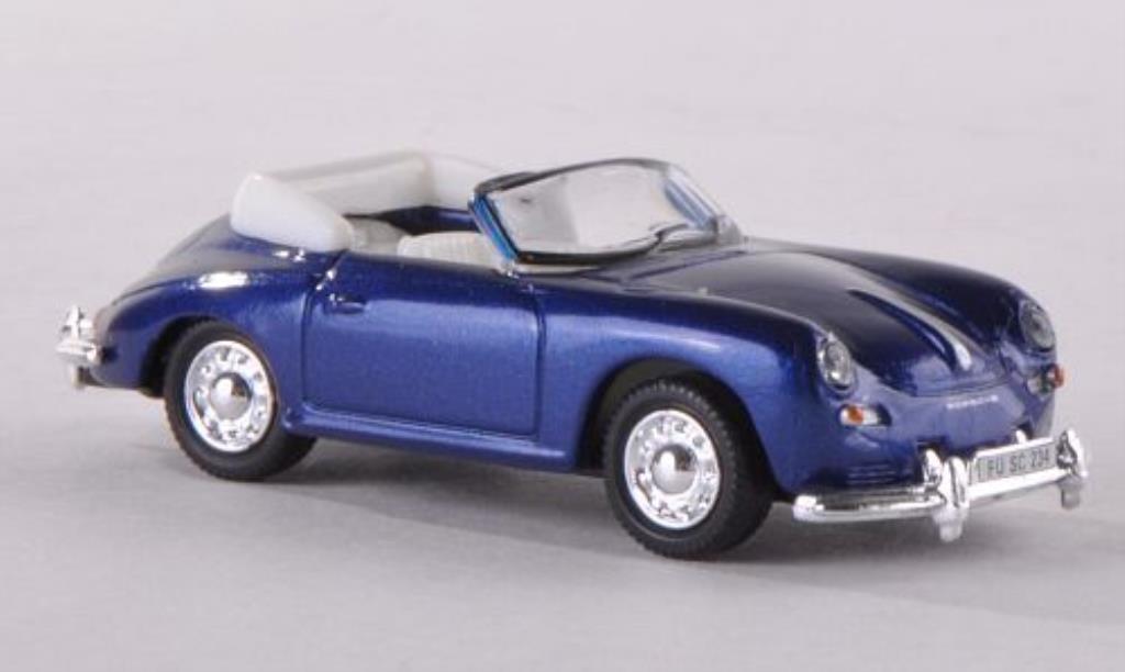 Porsche 356 A 1/87 Schuco Cabrio bleu diecast model cars