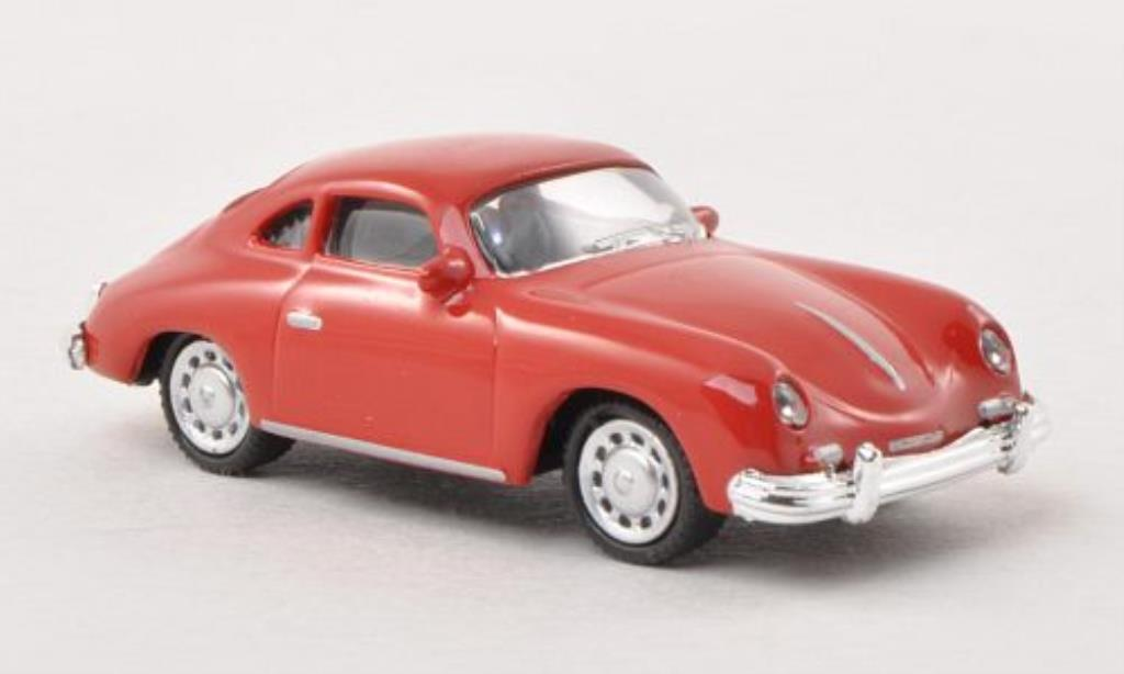 Porsche 356 A 1/87 Schuco Coupe red diecast model cars