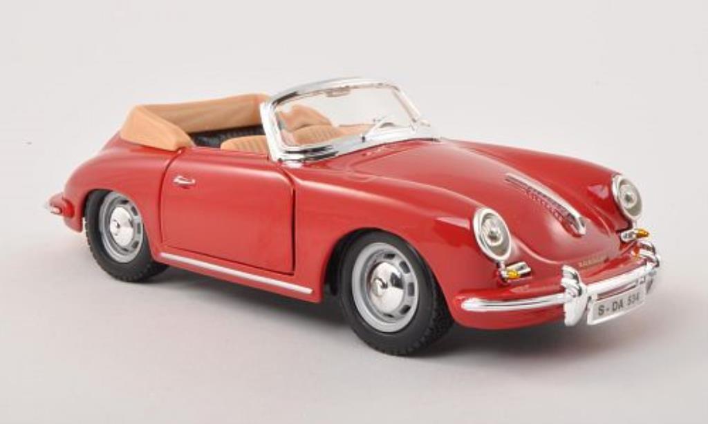 Porsche 356 B 1/24 Burago B Cabriolet rouge 1961 miniature