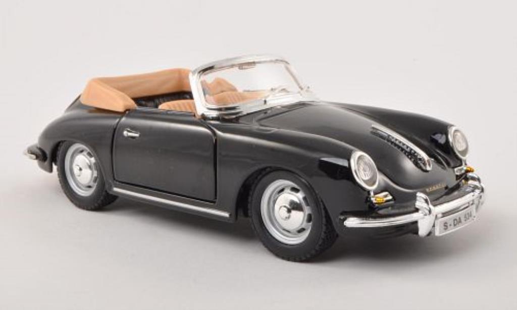 Porsche 356 B 1/24 Burago B Cabriolet noire 1961 miniature