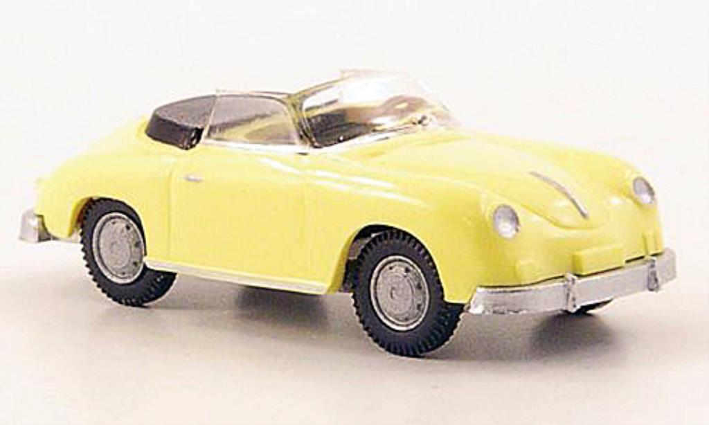 Porsche 356 1/87 Wiking Cabriolet jaune miniature