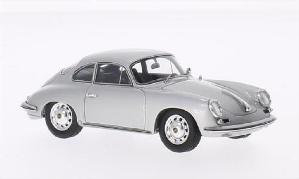 Porsche 356 1/43 Spark Carrera 2 grise 1963 miniature