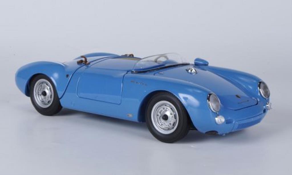 Porsche 550 1/18 Schuco A Spyder bleu miniature