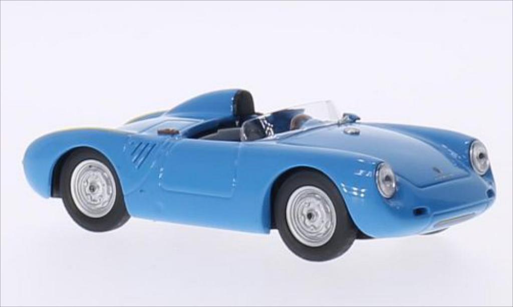 Porsche 550 1/43 Best  bleu 1957 miniature