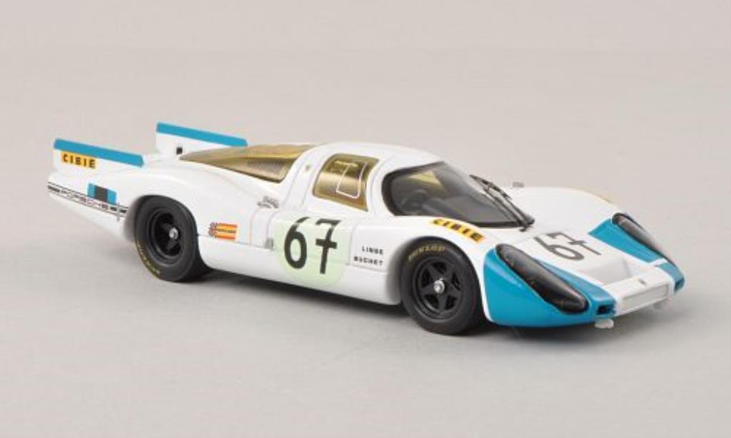 Porsche 907 1/43 Spark No.67 24h Le Mans 1968 /H.Linge miniature