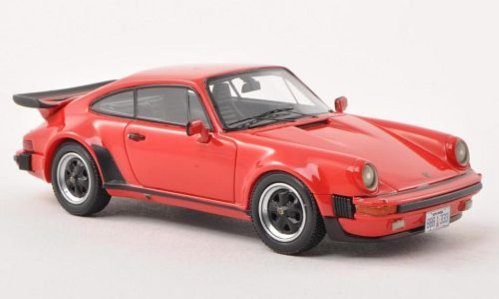 Porsche 930 Turbo 1/43 Neo  USA rouge 1980 miniature
