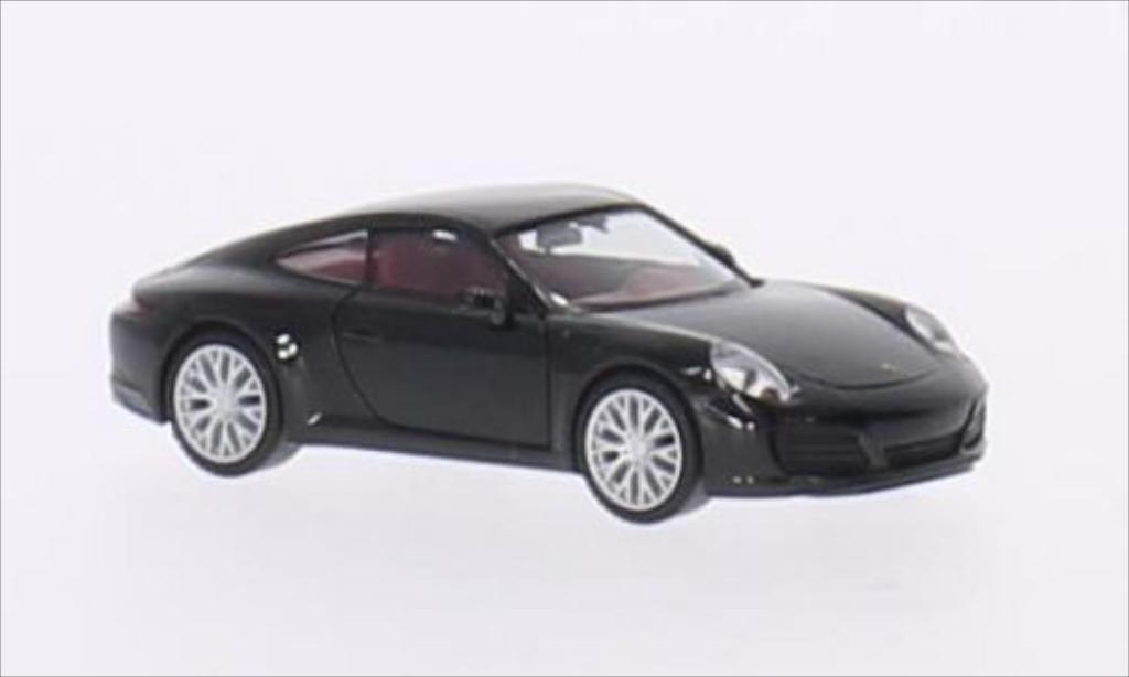 Porsche 991 S 1/87 Herpa Carrera black 2015 diecast model cars
