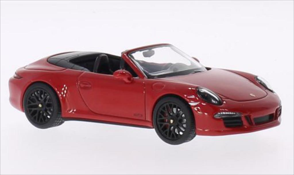 Porsche 991 GTS 1/43 Schuco Carrera 4 Cabrio red/black 2014 diecast model cars