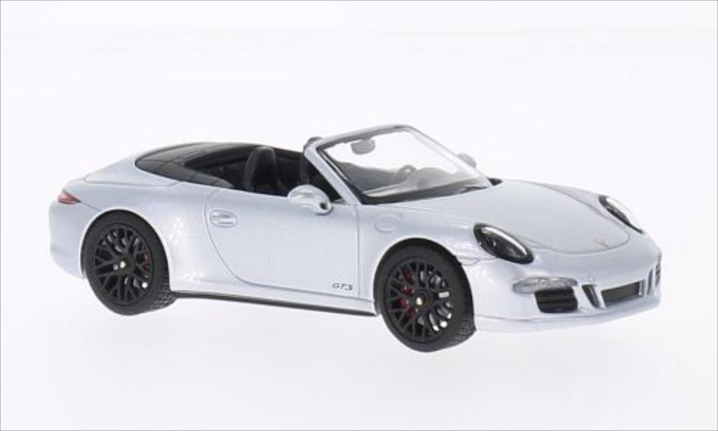 Porsche 991 Carrera 1/43 Schuco 4 GTS Cabriolet gray 2014 diecast