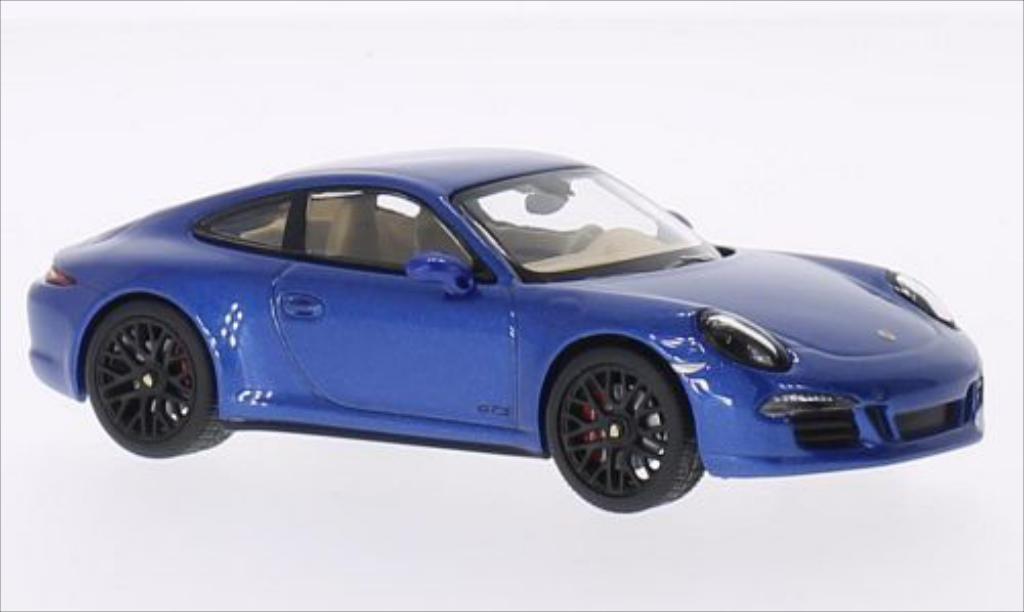 Porsche 991 GTS 1/43 Schuco Carrera 4 metallise bleu 2014 diecast model cars