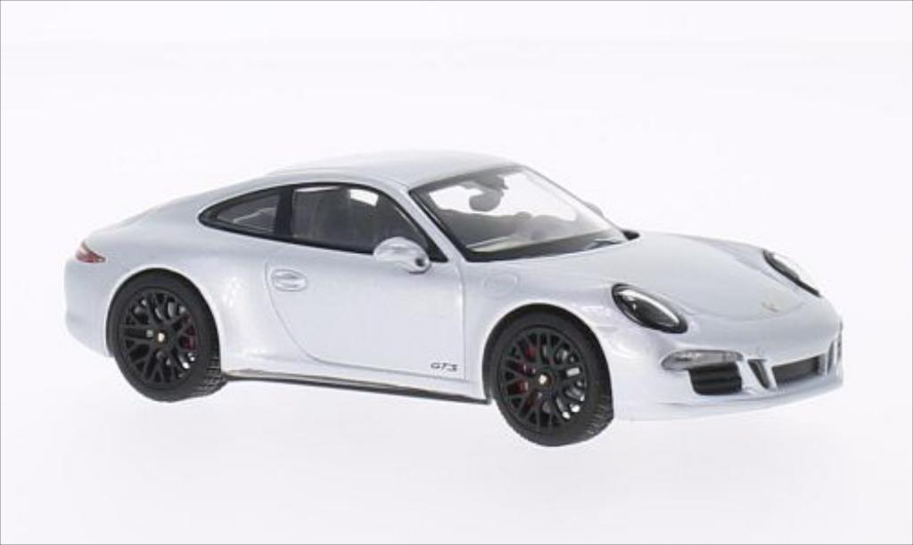 Porsche 991 GTS 1/43 Schuco Carrera 4 grey diecast model cars