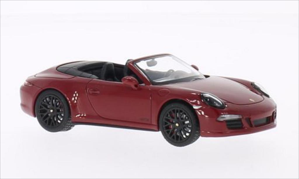 Porsche 991 GTS 1/43 Schuco Carrera Cabriolet red 2014 diecast model cars