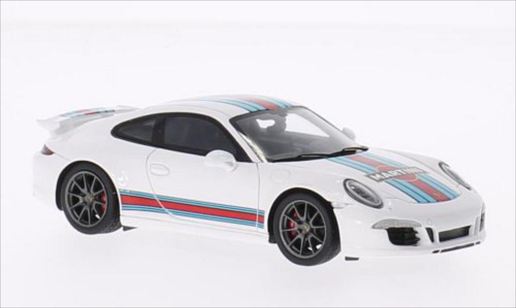 Porsche 991 S 1/43 Spark Carrera Aerokit white 2014 diecast model cars