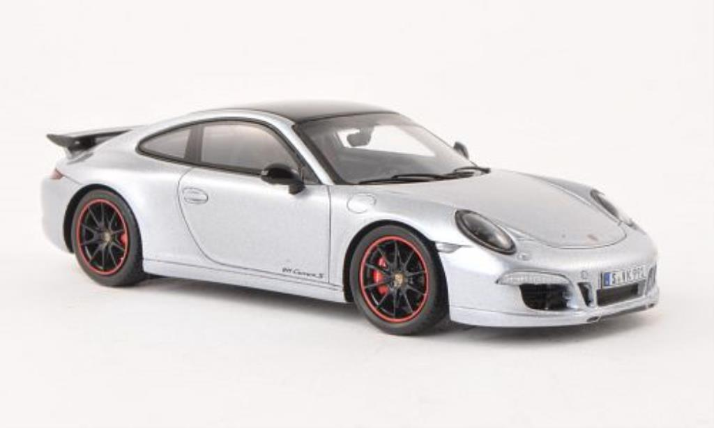 Porsche 991 S 1/43 Spark Carrera Exclusive grey diecast model cars