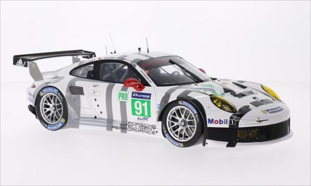 Porsche 991 R 1/18 Spark No.91 Team Manthey 24h Le Mans 2014 /N.Tandy miniature
