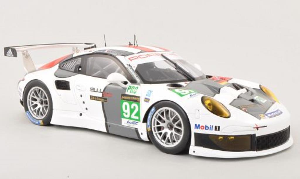 Porsche 991 R 1/18 Spark No.92 AG Team Manthey 24h Le Mans 2013 /.Lietz diecast model cars