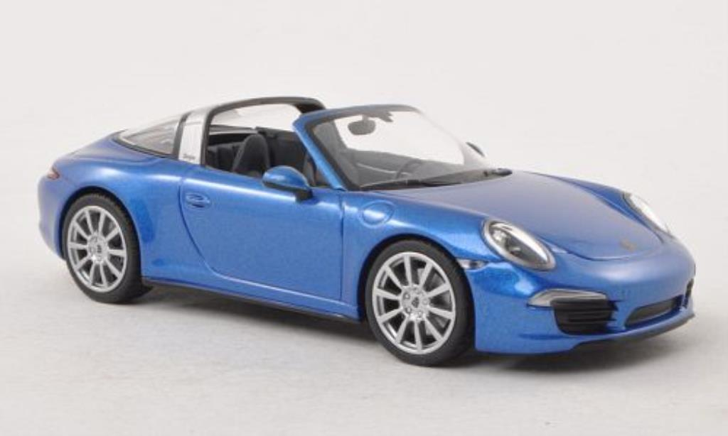 Porsche 991 Targa 1/43 Minichamps 4 bleu miniature