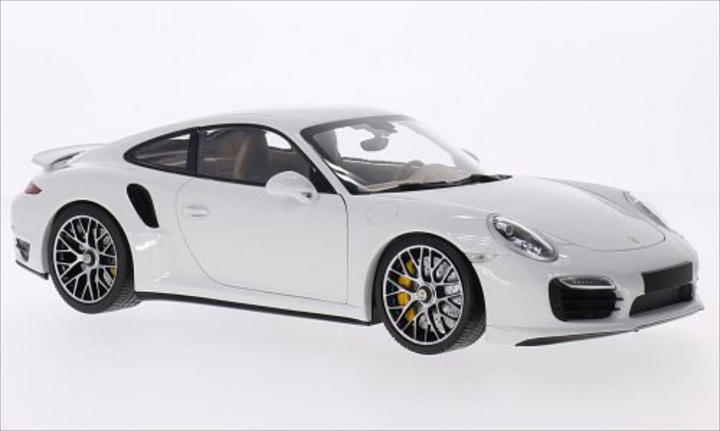 Porsche 991 Turbo S 1/18 Minichamps white 2013 diecast model cars