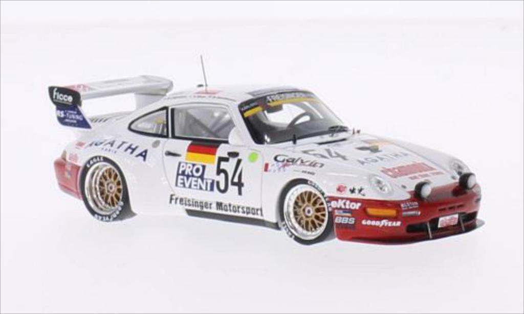 Porsche 993 Turbo 1/43 Spark Bi- No.54 Freisinger Motorsport 24h Le Mans 1995 /M.Ligonnet miniature