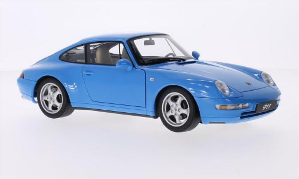 Porsche 993 Carrera 1/18 Autoart bleu 1995 miniatura