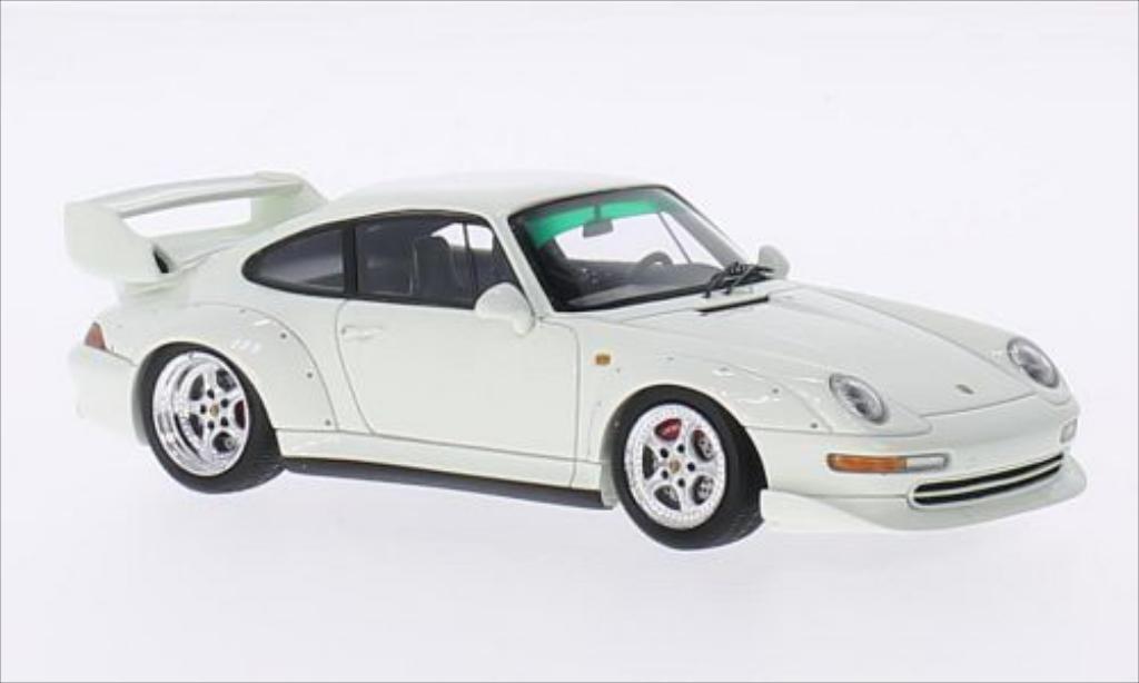 Porsche 993 1/43 Spark GT blanche 1995 miniature