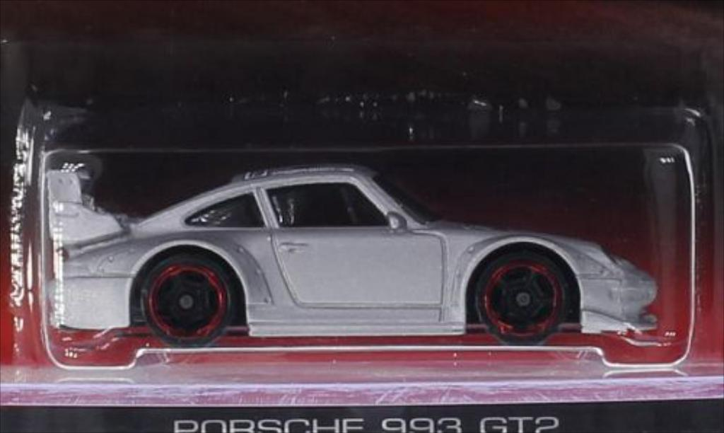 Porsche 993 GT2 1/64 Hot Wheels No.19 diecast model cars