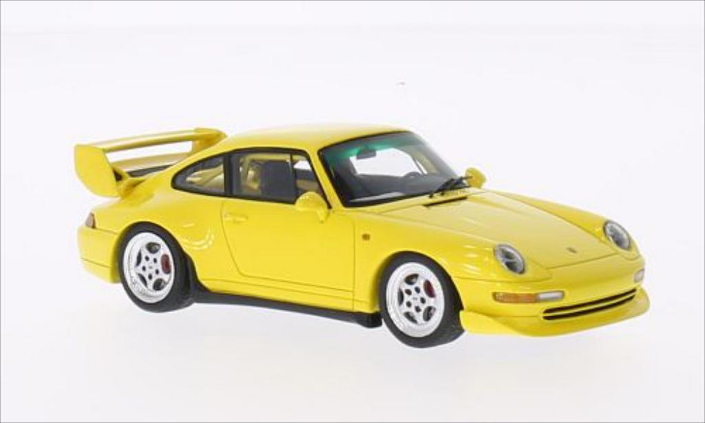 Porsche 993 1/43 Spark Club Sport jaune 1995 miniature