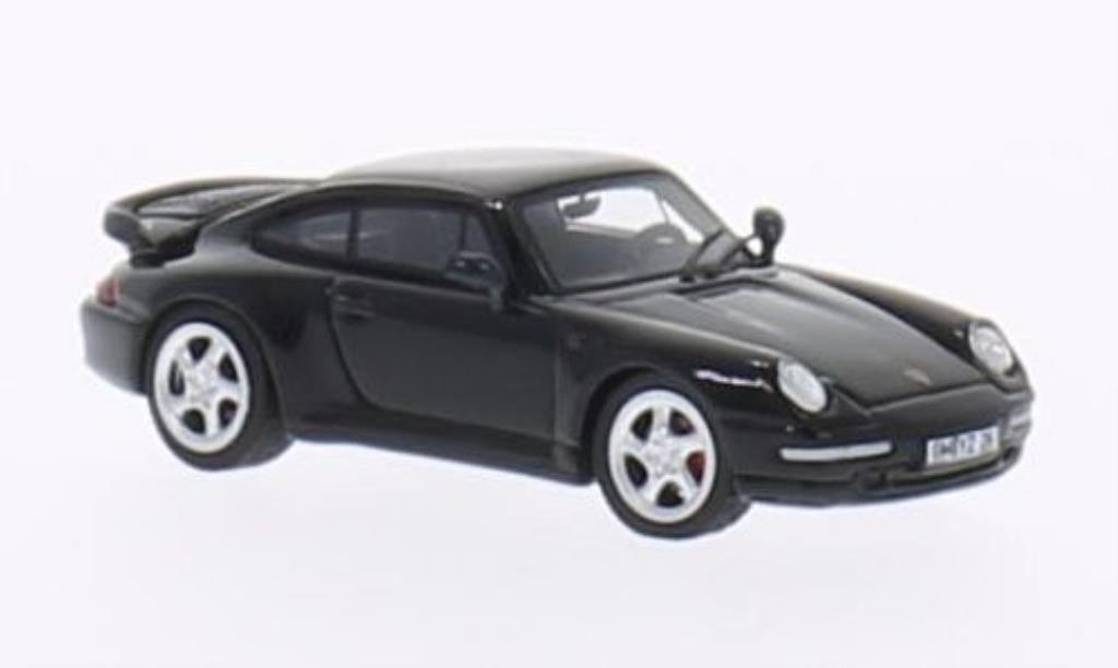Porsche 993 Turbo S 1/87 Minichamps Turbo noire 1995 miniature