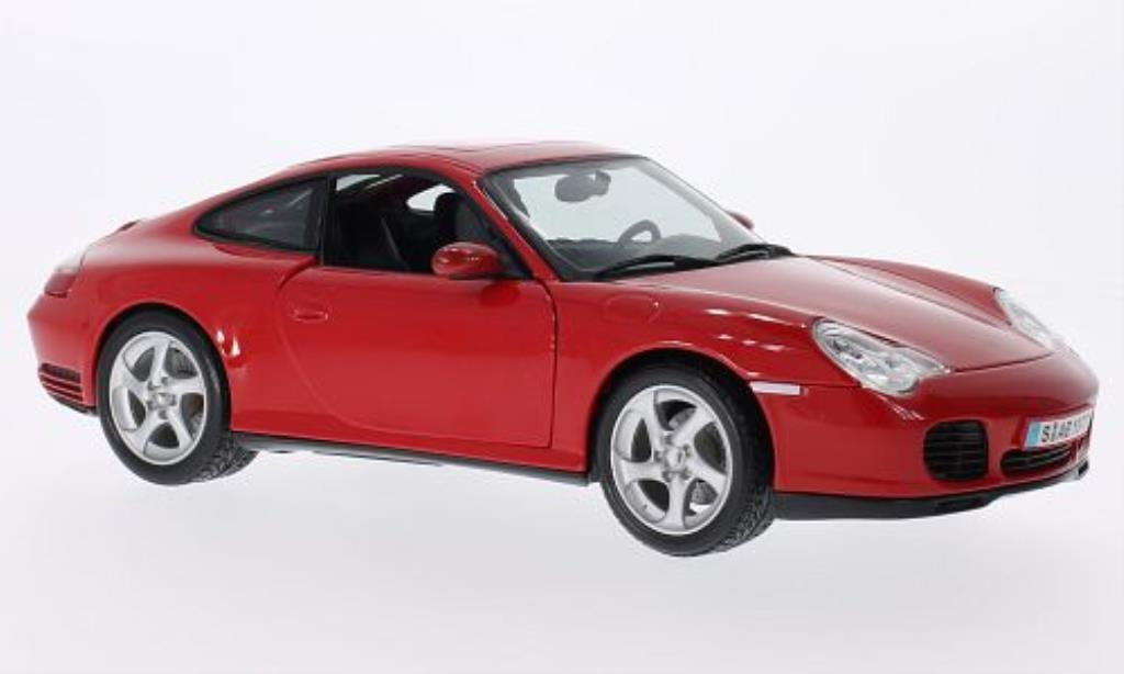 Porsche 996 4S 1/18 Maisto Carrera red diecast model cars