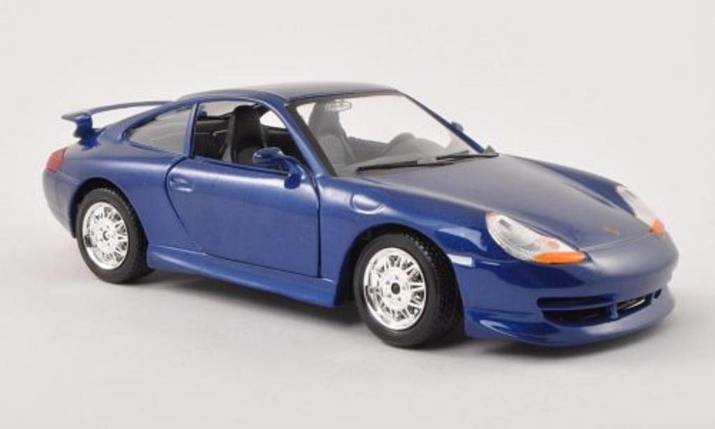 Porsche 996 GT3 1/24 Burago bleu diecast