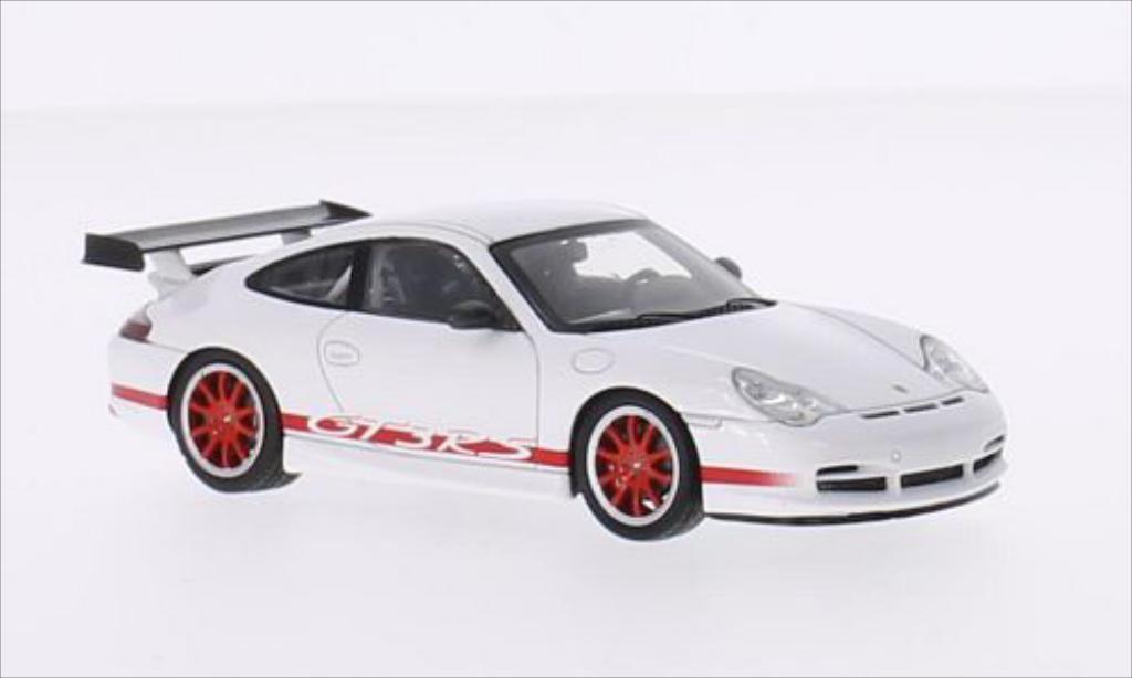 Porsche 996 GT3 1/43 Spark white/red diecast model cars
