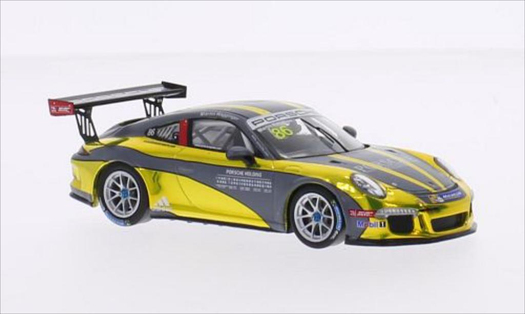 Porsche 997 GT3 CUP 1/43 Spark GT3 Cup No.86 Team Holding Carrera Cup Asia 2015 miniature