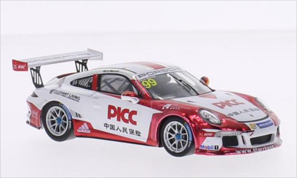 Porsche 997 GT3 1/43 Spark Cup No.99 Team Starchase PICC Carrera Cup Asia 2015 diecast